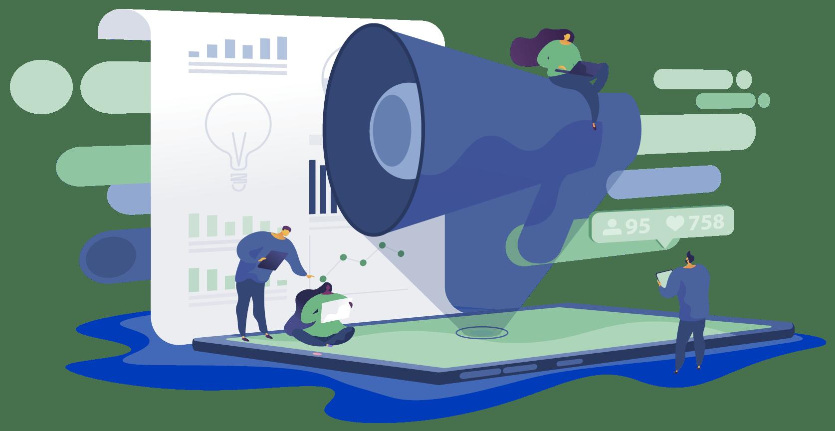 Ilustração Faça um plano de marketing