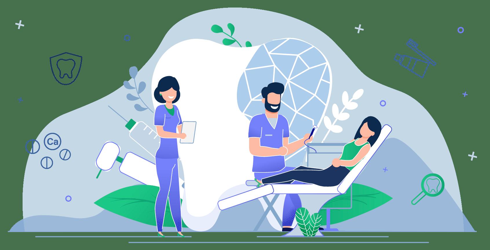 Ilustração Dentista, busque entender seu paciente