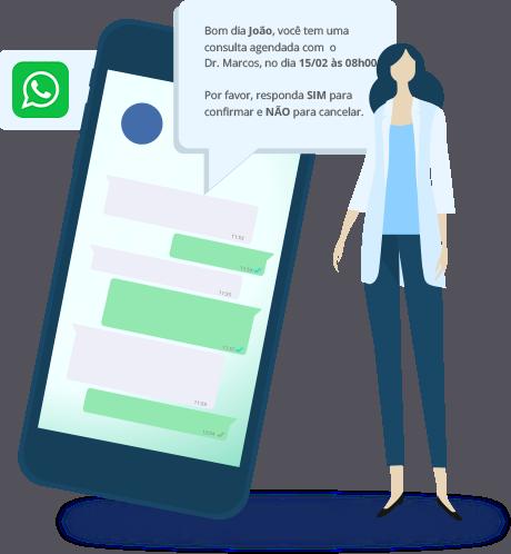Ilustração WhatsApp para confirmação de consultas!